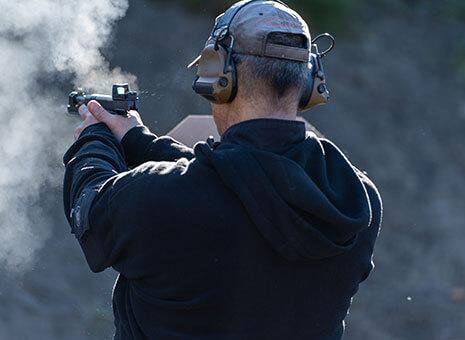 Man fires handgun at advanced handgun course in Anchorage.