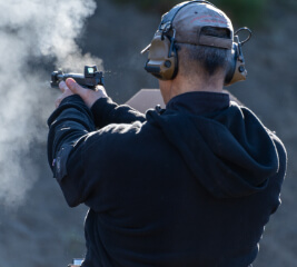Man fires handgun at advanced handgun course in Anchorage.