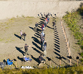 View of Alaska Tactical shooting range with class in session.