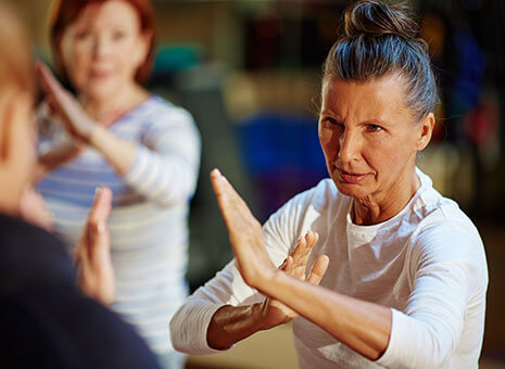 Woman practices Hojutsu at a class in Anchorage.